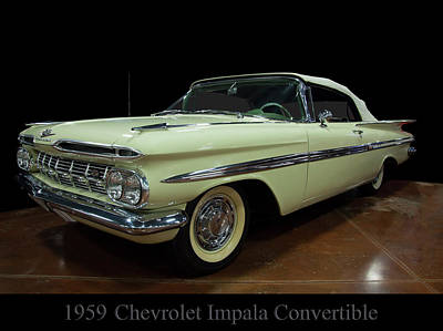 1959 Chevy Impala Convertible Poster