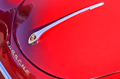 1959 Porsche 1600 Cabriolet Hood Ornament Poster by Jill Reger
