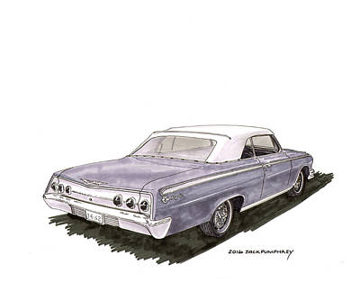 1962 Chevrolet Impala S S 392 Convertible Poster by Jack Pumphrey