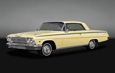 1962 Chevrolet Impala Super Sport 2 Door Hardtop  -  1962chevyimpalassgry172070 Poster by Frank J Benz
