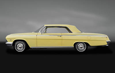 1962 Chevrolet Impala Super Sport 2 Door Hardtop   -   1962supersportimpalagry172073 Poster by Frank J Benz
