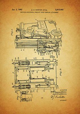 1962 Forklift Patent Poster