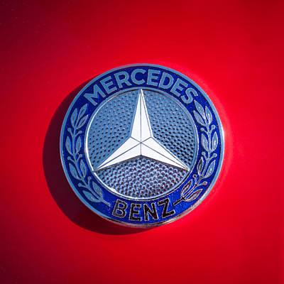 1962 Mercedes-benz 300sl Roadster Emblem -0382c Poster