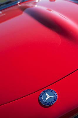 1962 Mercedes-benz 300sl Roadster Emblem -0384c Poster by Jill Reger