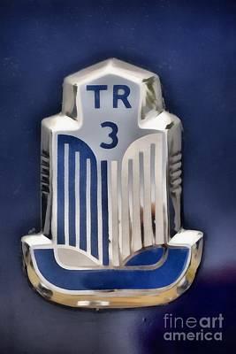 1962 Triumph Tr3 Badge Poster by George Atsametakis