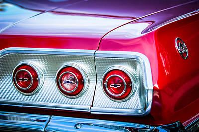 1963 Chevrolet Impala Ss Taillight Emblem -1063c Poster by Jill Reger