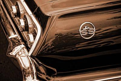 1963 Chevy Impala Ss Sepia Poster by Gordon Dean II