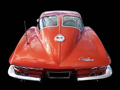1963 Corvette Stingray Split Window Rear Poster