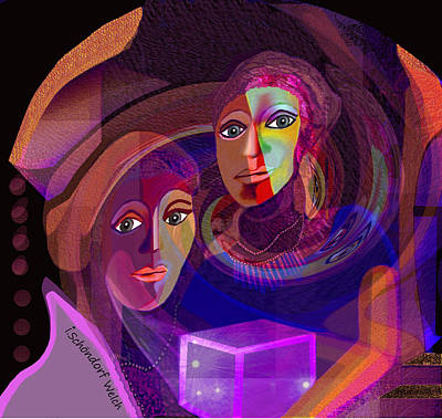 Poster featuring the digital art 1963 - Pandoras Magic Box 2017 by Irmgard Schoendorf Welch