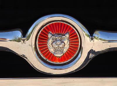 1963 Jaguar Xke Roadster Emblem Poster by Jill Reger