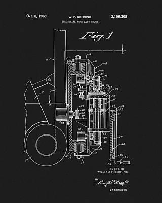 1963 Lift Truck Poster