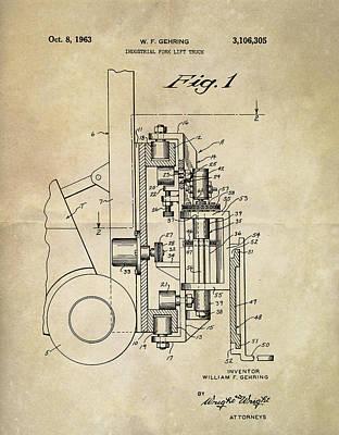 1963 Lift Truck Patent Poster