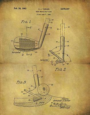 1963 Sand Wedge Patent Poster by Dan Sproul
