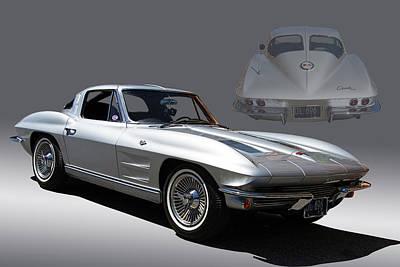 1963 Split Window Corvette Poster by Nick Gray