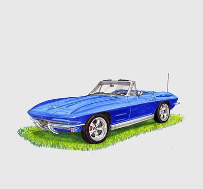 1964 Corvette Stingray Poster by Jack Pumphrey
