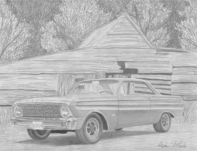 1964 Ford Falcon Futura Classic Car Art Print Poster