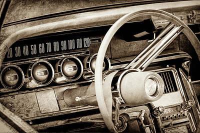 1964 Ford Thunderbird Steering Wheel -0280s Poster