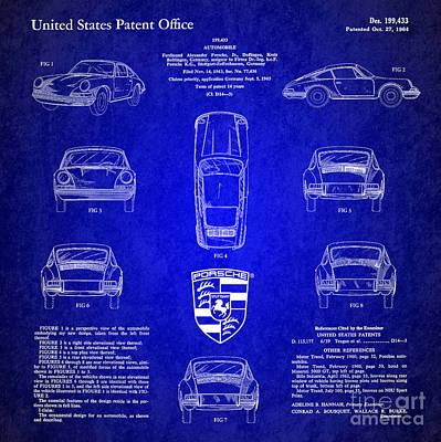 1964 Porsche Car Patent 4 Poster by Nishanth Gopinathan