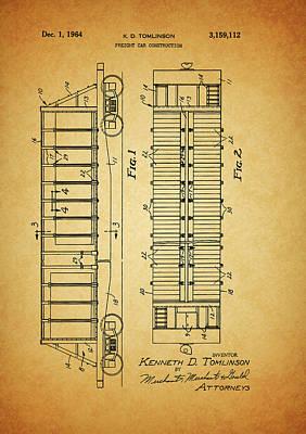 1964 Railroad Car Patent Poster