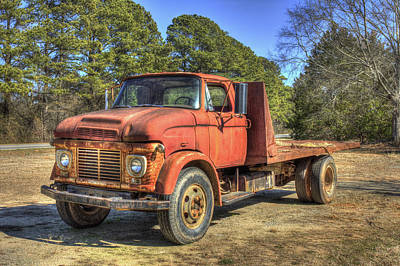 1965 Ford F600 Snub Nose Commercial Truck Poster