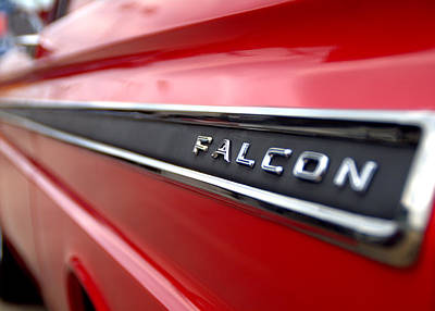 1965 Ford Falcon Name Plate Poster by Brian Harig