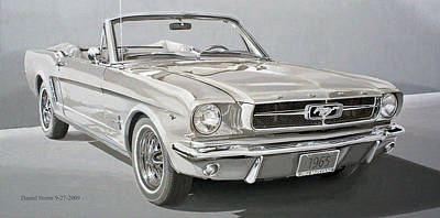 1965 Ford Mustang Poster