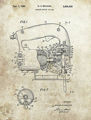 1965 Jig Saw Patent Poster