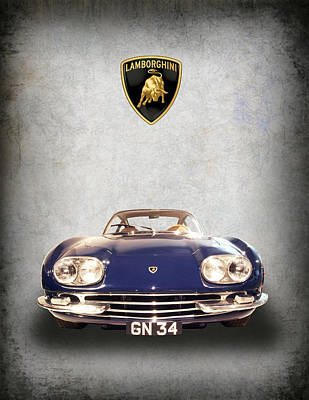 1965 Lamborghini Poster by Daniel Hagerman