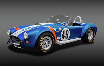 Poster featuring the photograph 1966 427 Shelby Cobra  -  1966427shelbycobrafa170660 by Frank J Benz