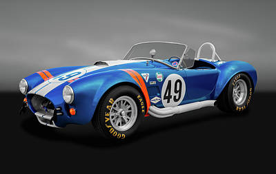 Poster featuring the photograph 1966 427 Shelby Cobra  -  1966shelby427cobragry170660 by Frank J Benz