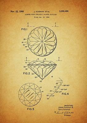 1966 Brilliant Diamond Patent Poster by Dan Sproul