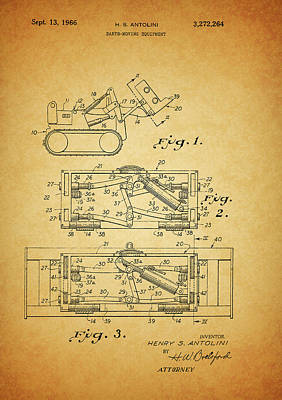 1966 Bulldozer Patent Poster