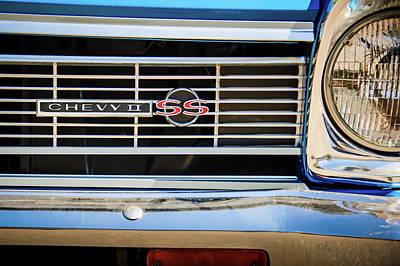 1966 Chevrolet Nova - Chevy II Ss Grille Emblem -0075c Poster by Jill Reger