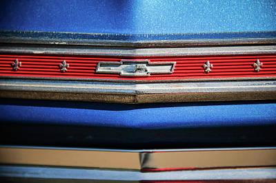 1966 Chevrolet Nova - Chevy II Ss Grille Emblem -0091c Poster by Jill Reger