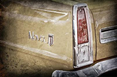 1966 Chevrolet Nova Taillight Emblem -1280ac Poster