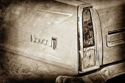 1966 Chevrolet Nova Taillight Emblem -1280s Poster