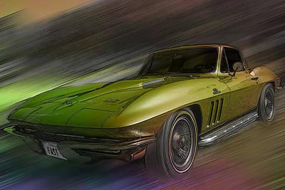 1966 Corvette Poster by Larry Helms