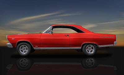 1966 Ford Fairlane 500 - 390 Gta - 2 Poster by Frank J Benz