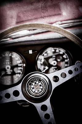 1966 Jaguar Xk-e Steering Wheel Emblem -2489ac Poster by Jill Reger