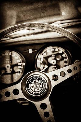 1966 Jaguar Xk-e Steering Wheel Emblem -2489s Poster by Jill Reger