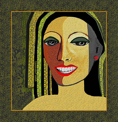 Poster featuring the digital art 1966 - Lady With Beautiful Teeth by Irmgard Schoendorf Welch