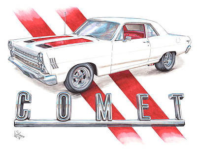 1966 Mercury Comet 202 Poster by Shannon Watts