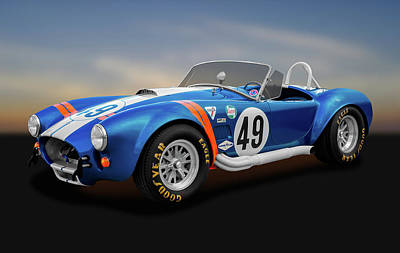 Poster featuring the photograph 1966 Shelby Cobra  -  1966shelbycobra427170660 by Frank J Benz