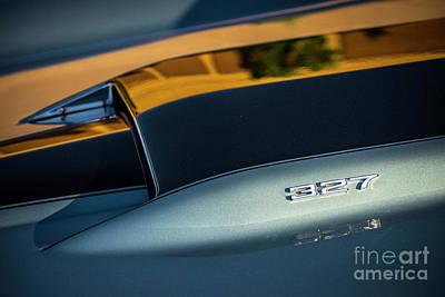 1967 327 Cu V8 Corvette Stingray Hood Scoop  Poster