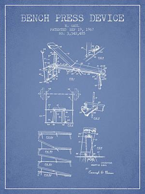 1967 Bench Press Device Patent Spbb06_lb Poster by Aged Pixel