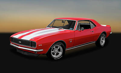 1967 Chevrolet Camaro Ss/rs 396   -   1967ss396camaro2483 Poster