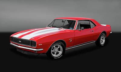 1967 Chevrolet Camaro Ss/rs 396  -  67ss396camarogry2483 Poster