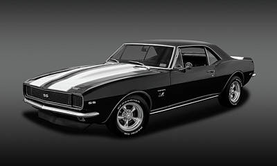 1967 Chevrolet Camaro Ss/rs 396   -   B_w67396camarossfa2483 Poster by Frank J Benz