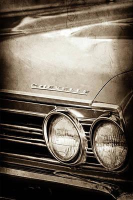 Poster featuring the photograph 1967 Chevrolet Chevelle Ss Super Sport Emblem -0413s by Jill Reger