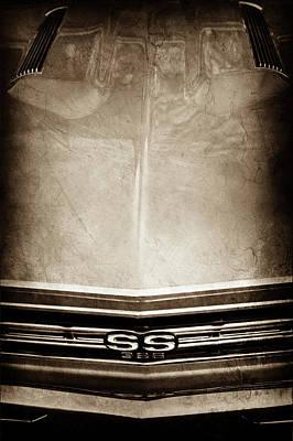 1967 Chevrolet Chevelle Super Sport Emblem -0028s Poster